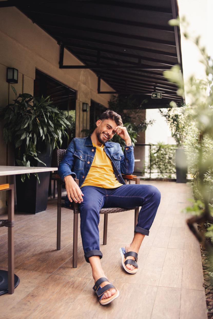 Outfit do dia #38: sandália masculina e jeans